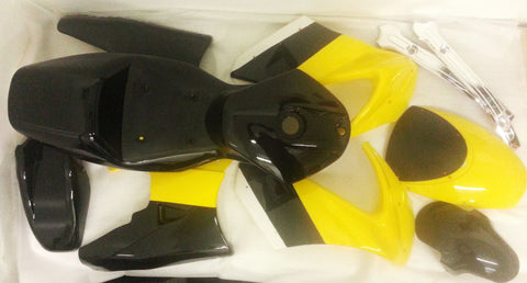FMM31 YELLOW / BLACK 49CC MINI MOTO FAIRINGS PLASTICS FOR MK2 - Orange Imports