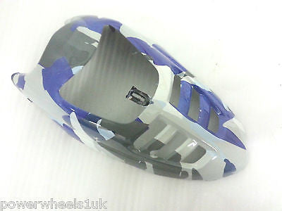 FNC05 FRONT NOSE CONE PLASTICS FAIRINGS CAMO BLUE / CREAM 50CC - 110CC QUAD BIKE QUAD BIKE - Orange Imports - 1