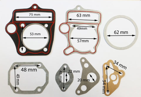 GAS06 COMPLETE GASKET SET FOR DIRT BIKE / PIT BIKE / QUAD 110CC - Orange Imports - 1