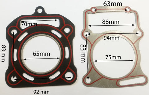 GAS34 CYLINDER HEAD GASKET 200CC 250CC WATERCOOLED QUAD BIKE / ATV CHINESE - Orange Imports