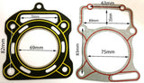 GAS56 CYLINDER HEAD GASKET 250 CC FOR WATERCOOLED QUAD BIKE / ATV CHINESE - Orange Imports - 1