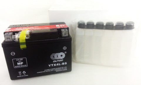 GT4L-BS / GTX4LBS / YTX4L-BS BATTERY 12V 9AH FOR QUAD / DIRT / PIT BIKE - Orange Imports