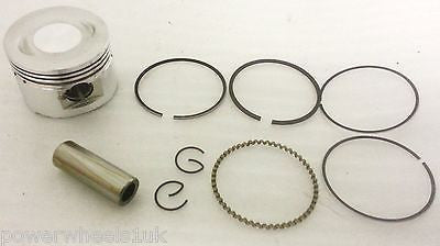 PIS17 GY6 PISTON KIT & RINGS 80CC 47MM CHINESE SCOOTER GUDGEON 13MM - Orange Imports - 1