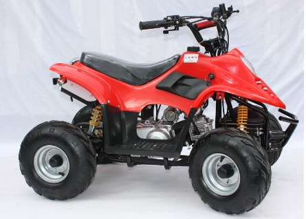 JLA-02 RED 110CC 4 STROKE FARM STYLE QUAD BIKE AUTOMATIC, ELECTRIC START & REVERSE