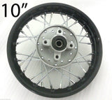"RIM39 REAR WHEEL RIM 10"" 1.40 X 10 FOR PIT / DIRT BIKE 110CC 125CC BLACK 12MM SP"