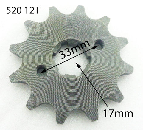 SPF22 FRONT SPROCKET FOR BASHAN BS250S-11B 250CC QUAD BIKE 12 TOOTH 520 17MM - Orange Imports