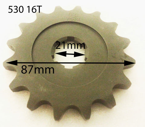 SPF24 FRONT SPROCKET 16 TOOTH FOR HAILI 350 QUAD BIKE ATV 530 CHAIN - Orange Imports - 1