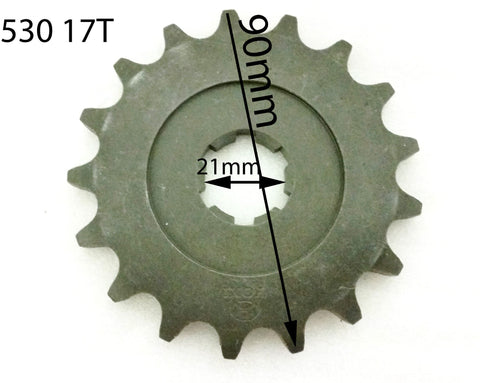 SPF25 FRONT SPROCKET 17 TOOTH FOR SPY RACING 250/350 F1 ROAD LEGAL QUAD BIKE - Orange Imports - 1