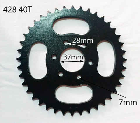 SPR08 REAR SPROCKET 428 40 TOOTH 40T FOR 150CC QUAD / GO KART - Orange Imports
