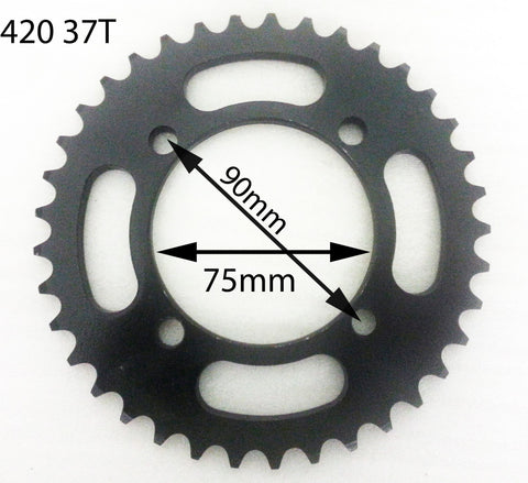 SPR12 REAR SPROCKET 420 37 TOOTH SDG FOR 125CC / 140CC DIRT / PIT BIKES - Orange Imports - 1