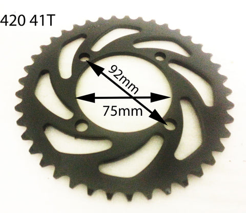 SPR13 REAR SPROCKET SDG FOR PIT / DIRT BIKE 420 41 TOOTH - Orange Imports - 1