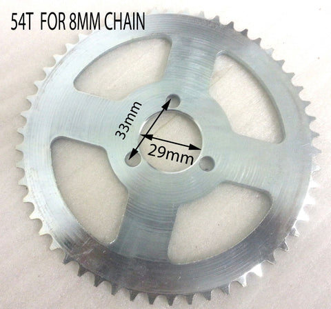 SPR17 REAR SPROCKET 54 TOOTH  8MM CHAIN 49CC MINI DIRT QUAD BIKE (29mm Centre) AGA-22 - Orange Imports