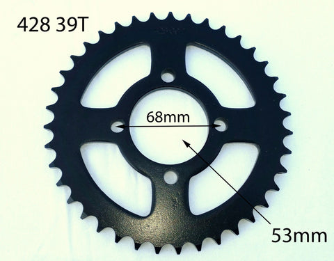 SPR29 REAR SPROCKET 428 39 TOOTH 39T FOR 110CC 125CC 140CC PIT / DIRT BIKE - Orange Imports - 1