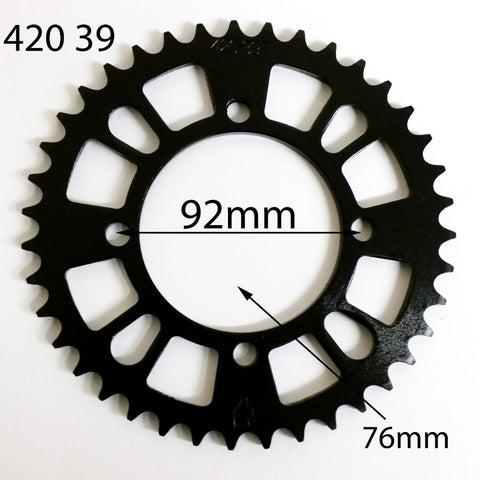 SPR31 REAR SPROCKET 420 39 TOOTH 39T SDG FOR 125CC / 150CC PIT & DIRT BIKE - Orange Imports - 1