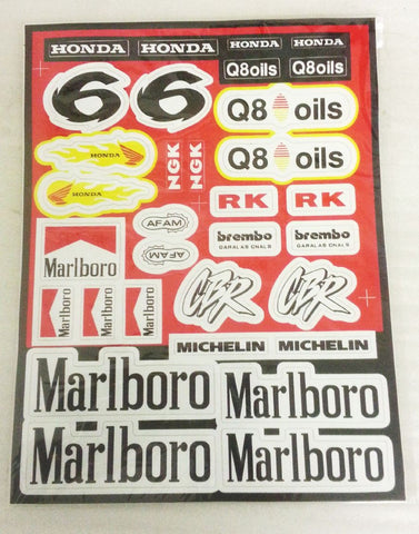 ST025 STICKER KIT FOR MINI MOTO / MINIMOTO MARLBORO CBR Q8 66 - Orange Imports