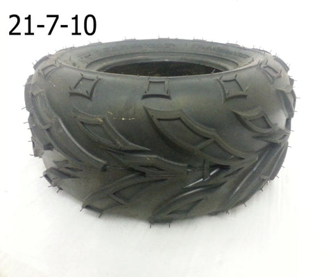 "TQU09 FRONT 10"" TYRE 21-7-10 FOR BASHAN BS200S-7 ROAD LEGAL (OFF ROAD TREAD) - Orange Imports - 1"