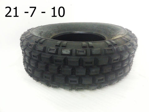 "TQU17 FRONT 10"" ROAD LEGAL TYRE 21-7-10 BASHAN BS250S-11B - Orange Imports - 1"