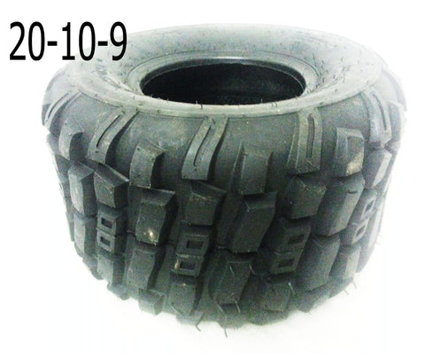 "TQU18 REAR 9"" ROAD LEGAL TYRE 20/10-9 FOR BASHAN BS250S-11B - Orange Imports - 1"