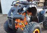 "UPBEAT ORANGE 125CC OFF ROAD QUAD BIKE ATV 4 STROKE AUTOMATIC FORWARD /REVERSE 8"" TYRES"
