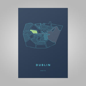 Dublin Stylised Map