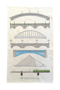 Bridges over the River Liffey, Dublin. Tea Towel.