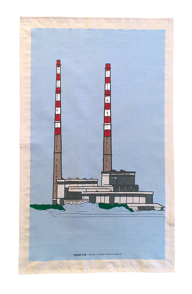 Poolbeg Chimneys tea towel.