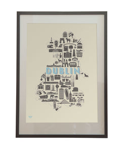 Dublin Icons: A detailed study depicting the city's many famous landmarks, and hidden gems. The Perfect Gift from Dublin!