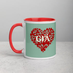 Grá Mug - Mint Green & Red