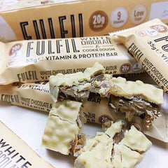 Fulfil Vitamin & Protein Bar - White Chocolate & Cookie Dough - Box of Protein