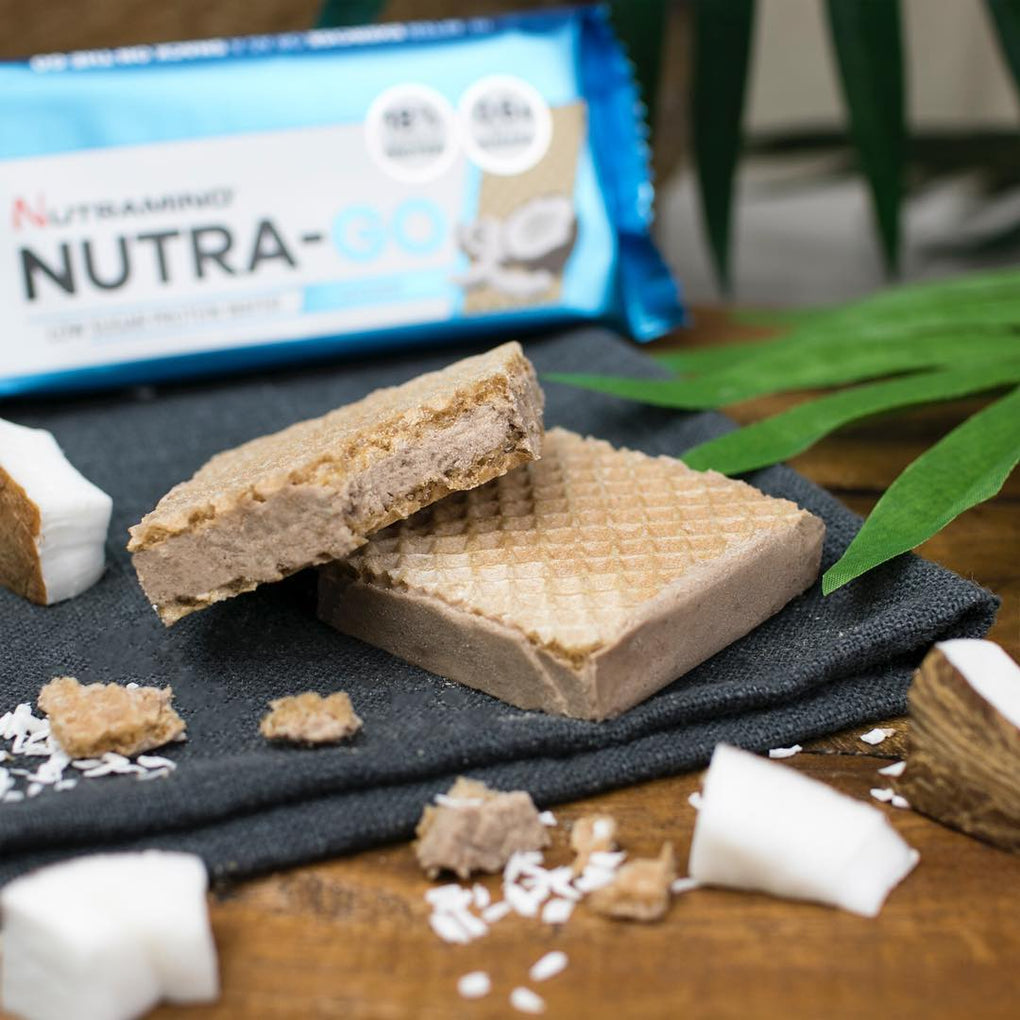 Nutramino Nutra-Go Protein Wafer - Coconut - Box of Protein