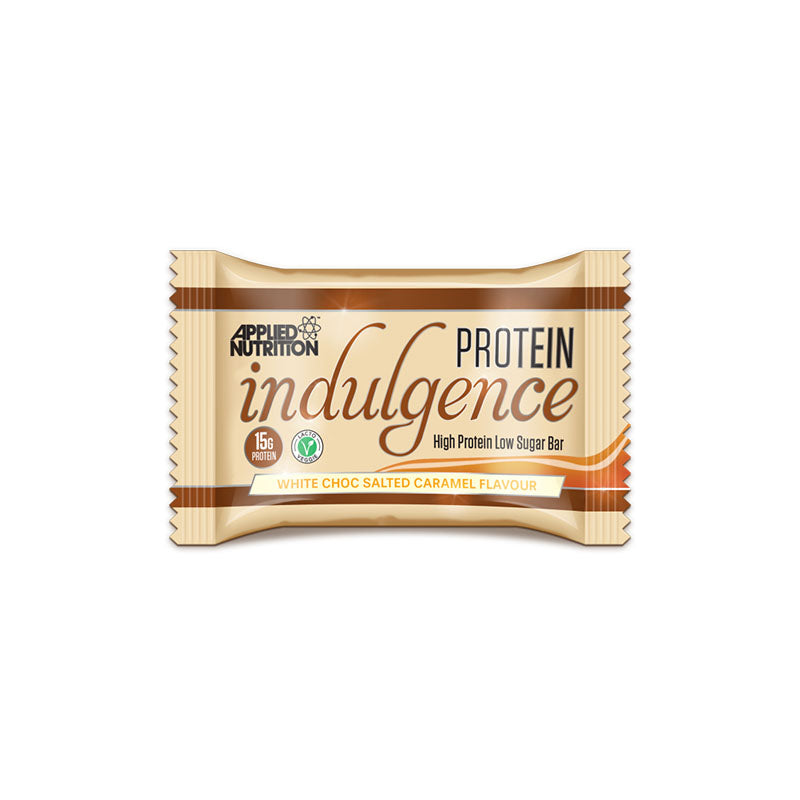 Applied Nutrition Protein Indulgence Bar - White Choc Salted Caramel - Box of Protein