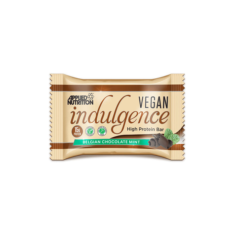 Applied Nutrition Vegan Plant Based Protein Indulgence Bar - Belgian Chocolate Mint - Box of Protein