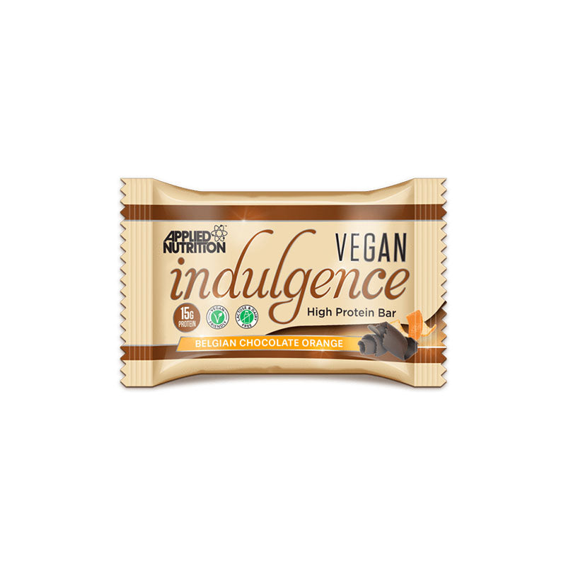 Applied Nutrition Vegan Plant Based Protein Indulgence Bar - Belgian Chocolate Orange - Box of Protein