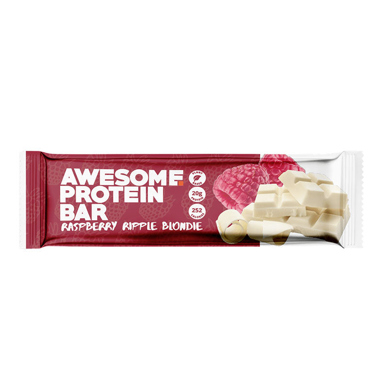 Awesome Supplements Vegan Protein Bar - Raspberry Ripple Blondie | Box of Protein