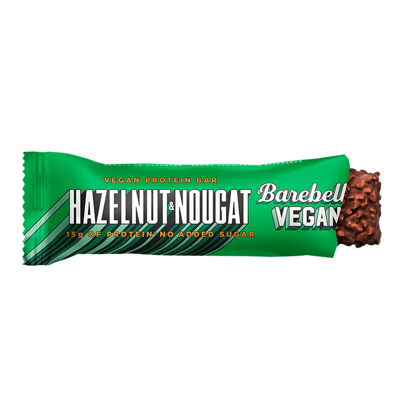 Barebells Vegan Protein Bar - Hazelnut & Nougat | Box of Protein