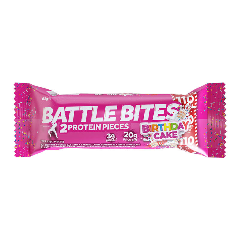 Battle Oats Battle Bites - Birthday Cake - Box of Protein