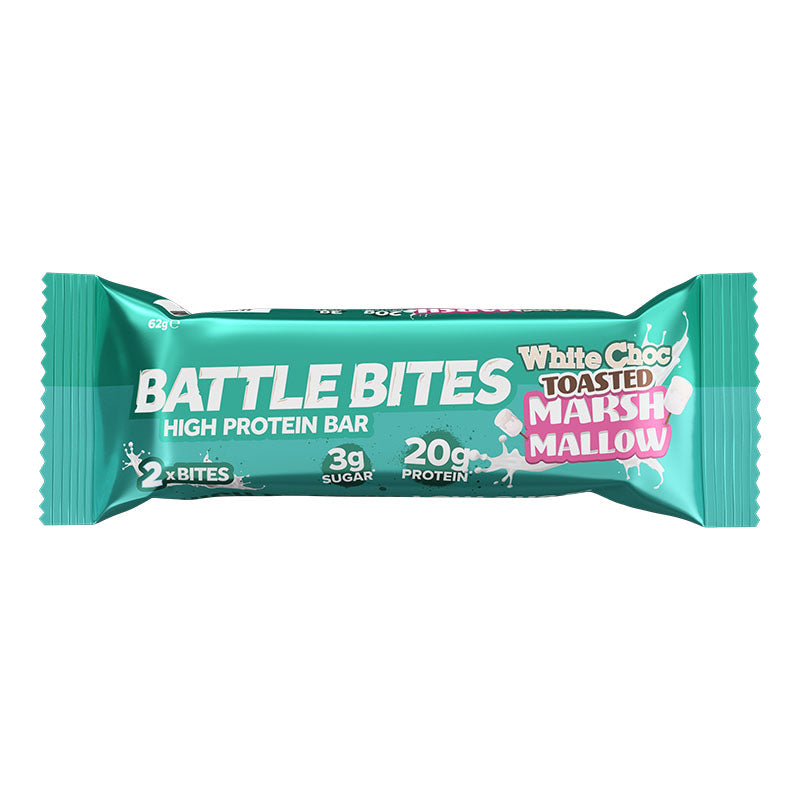 Battle Snacks Battle Bites - White Chocolate Toasted Marshmallow - Box of Protein