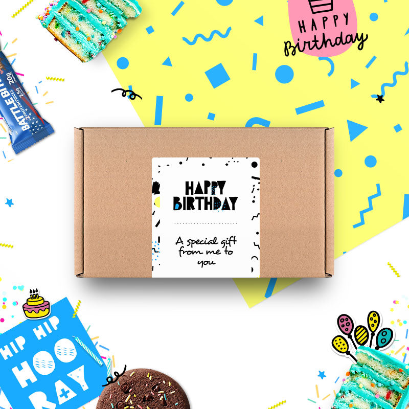 Box of Protein Birthday Gift Box - Medium
