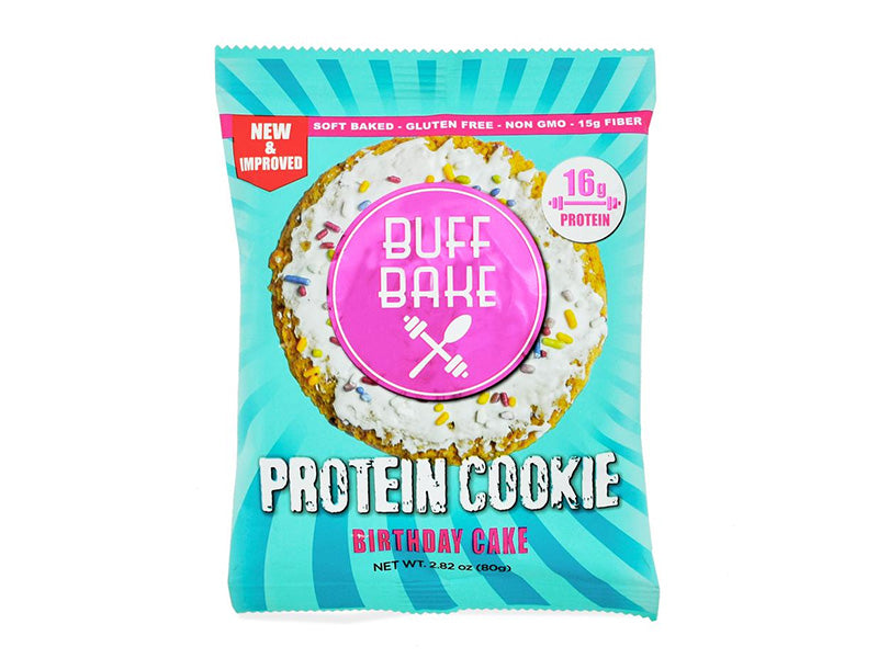 Buff Bake Protein Cookie - Birthday Cake (80g) - Box of Protein