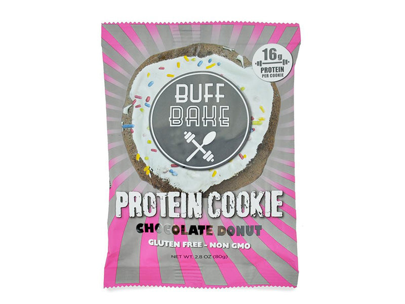 Buff Bake Protein Cookie - Chocolate Donut (80g) - Box of Protein