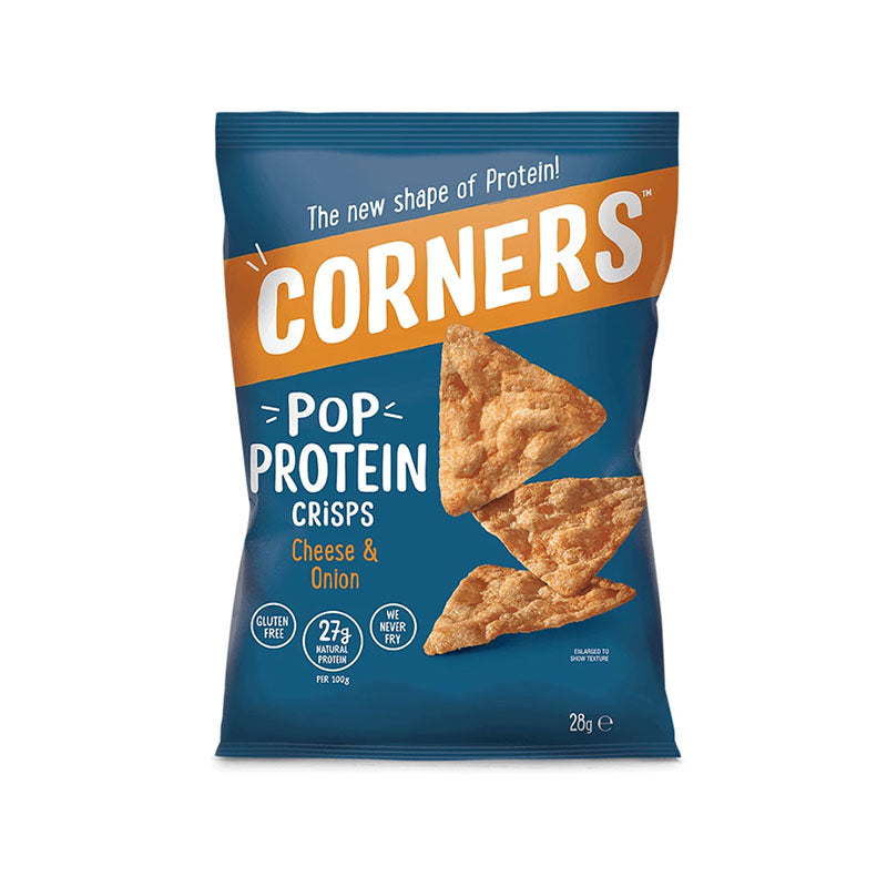 Corners Pop Protein Crisps - Cheddar & Onion - Box of Protein