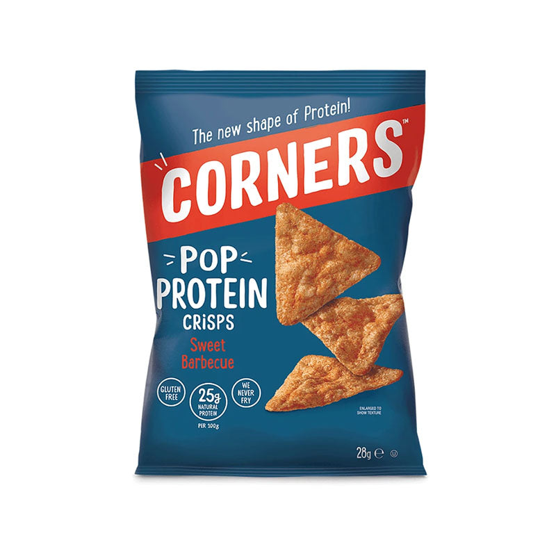 Corners Pop Protein Crisps - Sweet BBQ - Box of Protein