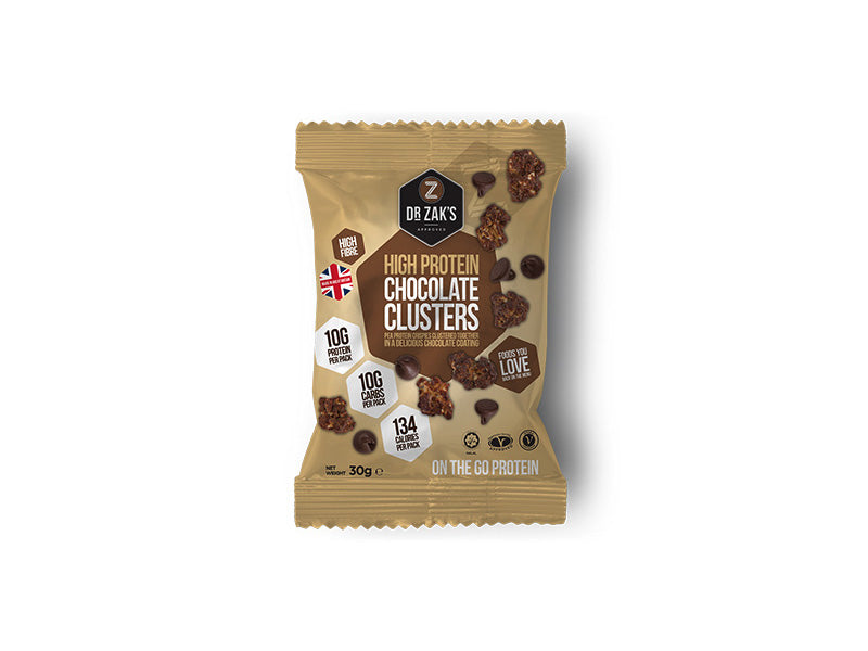 Dr Zak's Protein Clusters - Chocolate - Box of Protein
