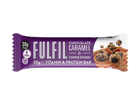 Fulfil Vitamin & Protein Bar - Chocolate Caramel & Cookie Dough (55g) - Box of Protein