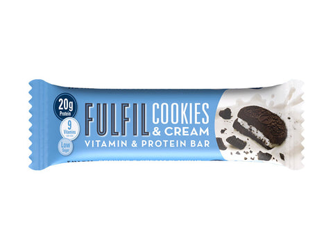 Fulfil Vitamin & Protein Bar - Cookies & Cream (55g) - Box of Protein