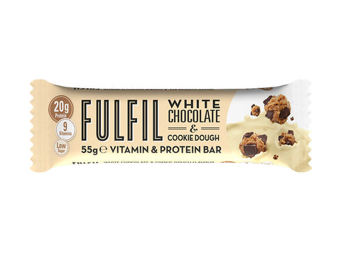 Fulfil Vitamin & Protein Bar - White Chocolate & Cookie Dough (55g) - Box of Protein