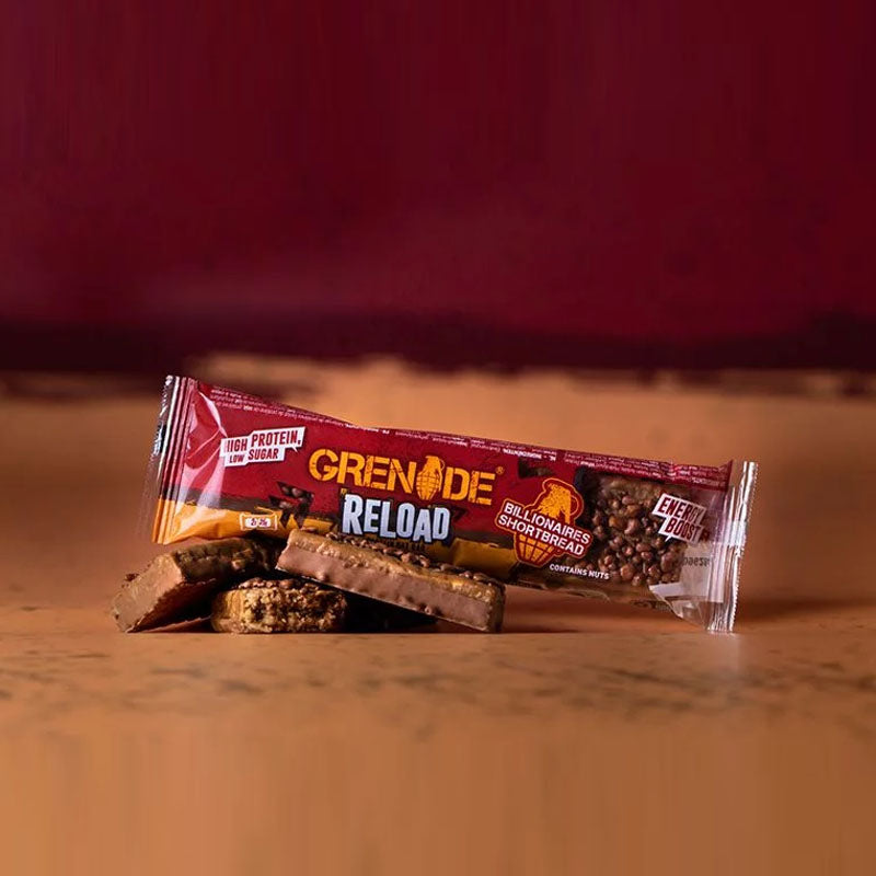 Grenade Reload Protein Oat Bar - Billionaires Shortbread - Box of Protein