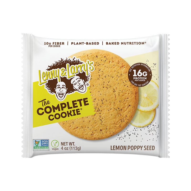 Lenny & Larry's The Complete Cookie - Lemon Poppy Seed - Box of Protein
