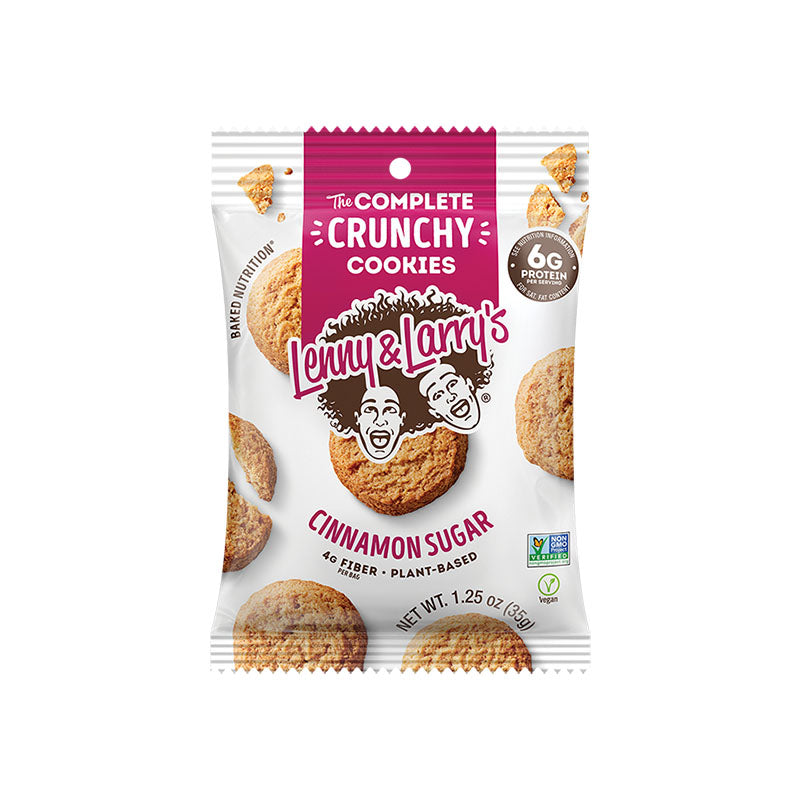 Lenny & Larry's The Complete Crunchy Cookies - Cinnamon Sugar - Box of Protein