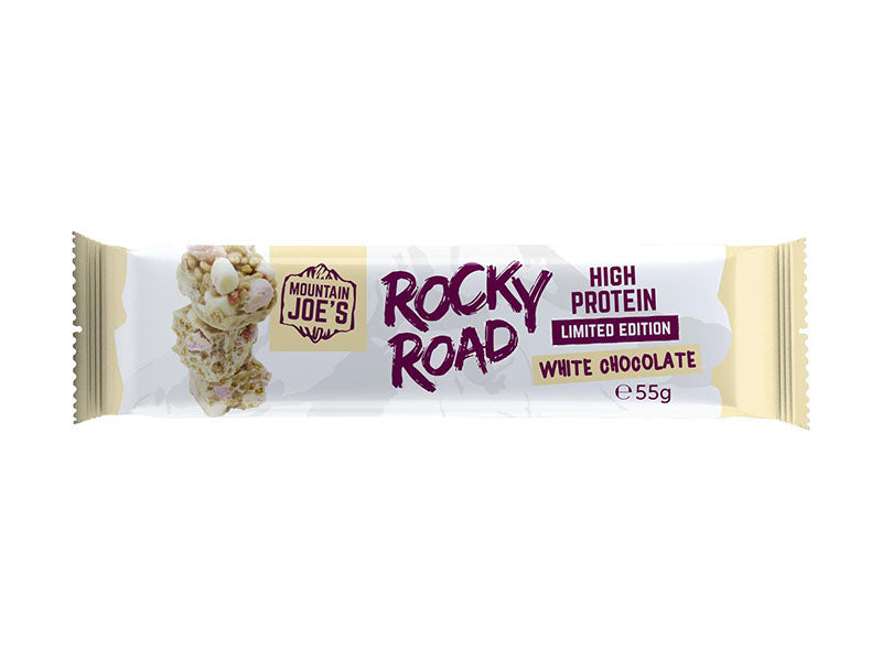 Mountain Joe's Rocky Road Protein Bar - White Chocolate *LTD EDITION* - Box of Protein